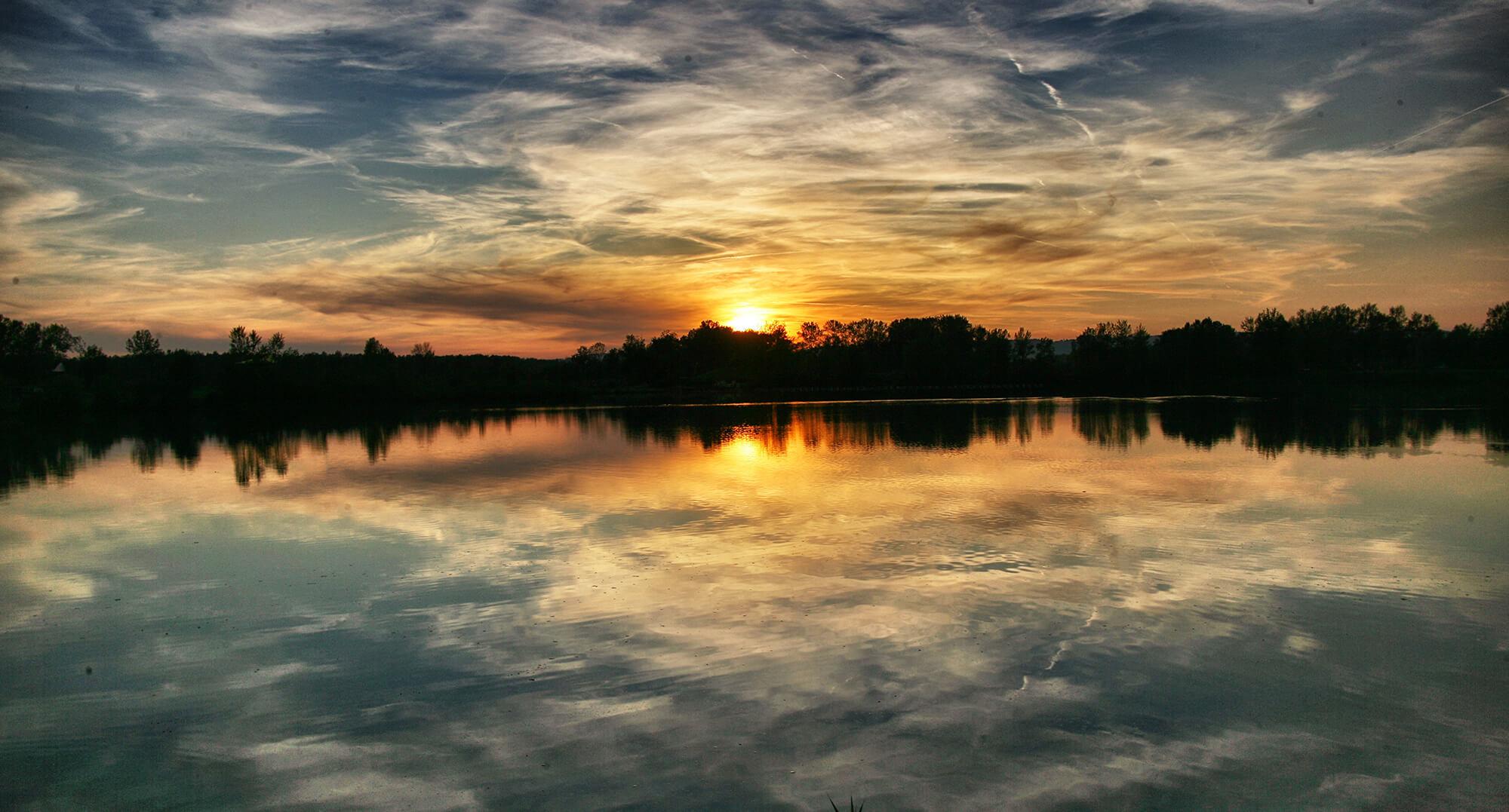 THALHAMMERs Sonnenuntergang Feldkirchner Badesee